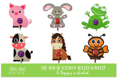 Animal lollipop / sucker holder designs