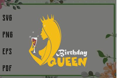 Birthday Queen Retro Vintage Svg, File For Cricut, For Silhouette, Cut