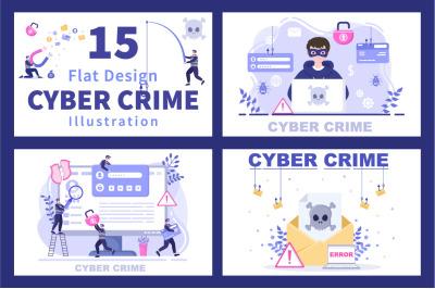 15 Cyber Crime Illustration
