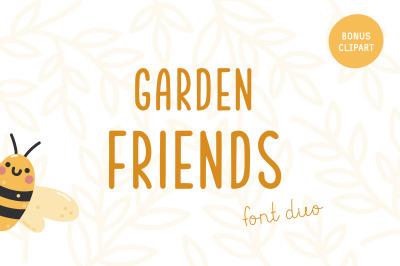 Garden friends | Font duo