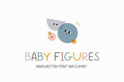 Baby figures | Handwritten font