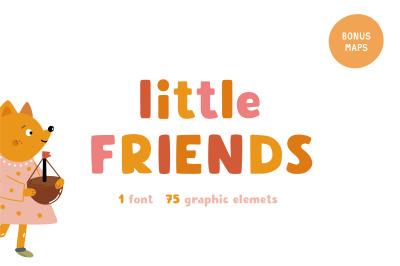 Little friends | Hand drawn font