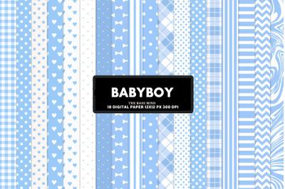 Baby boy buffalo plaid blue