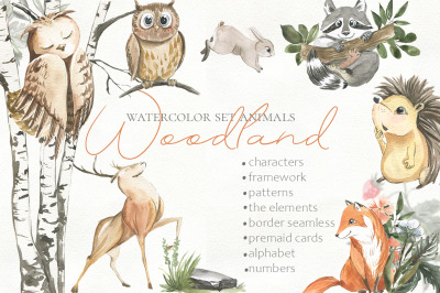 Woodland Animal Watercolor