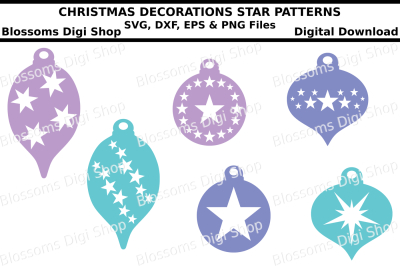 Christmas decorations SVG, EPS, DXF and PNG cut files