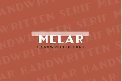 Melar -  a hand drawn serif font