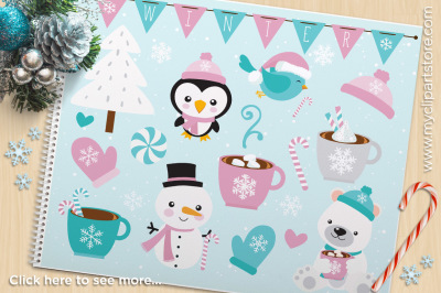Christmas - Frosty Friends Vector Clipart