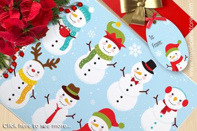 Snowman Jingle Christmas Vector Clipart