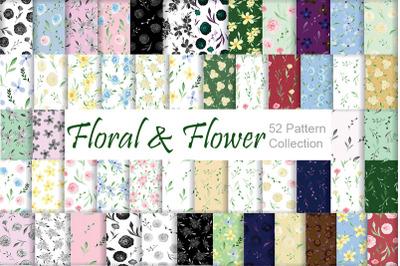 Floral Pattern. Flower Seamless Patterns.