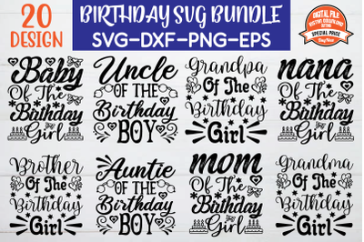 Birthday Svg Bundle vol 7