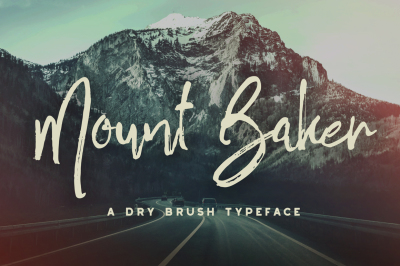Mount Baker Brush Font