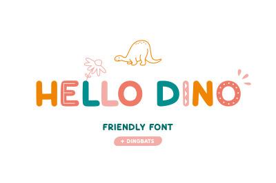 Hello Dino | Friendly font