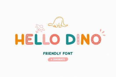 Hello Dino   Friendly font