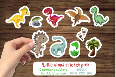 Dinosaur stickers Printable sticker pack / Stickers for kids