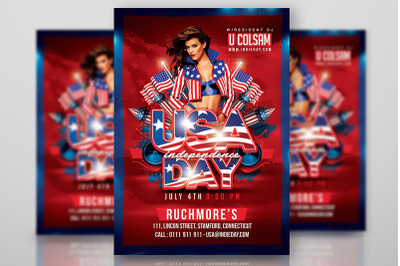 Usa July 4th American Independence Day flyer