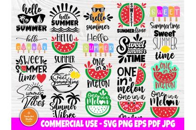 Summer SVG Bundle&2C; Beach Svg&2C; Hello Summer Svg