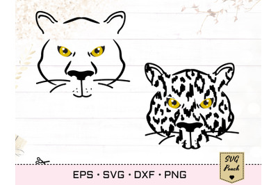 Tiger SVG silhouette outline and leopard print