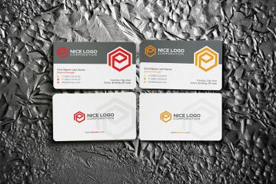 e hexagon business card