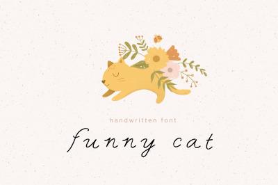 Funny cat | Handwritten Font
