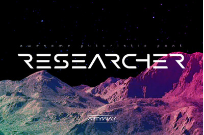 Researcher Futuristic Font