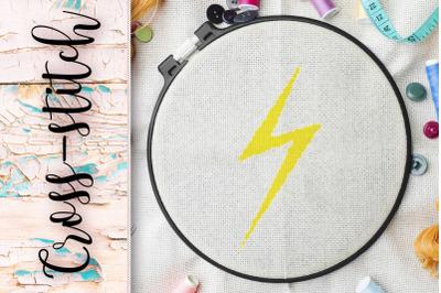 "cross-stitch ""Lightning"""