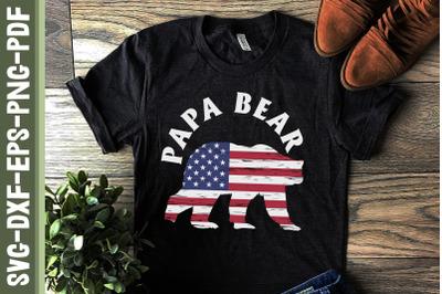 Papa Bear America 4th of July Christmas
