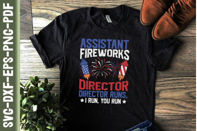 Assistant Fireworks Director 4th of July