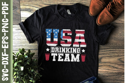 USA Drinking Team 4th Of July America