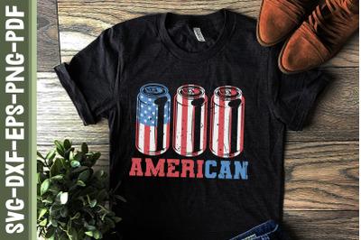 American Ameri Can Beer 4th of July