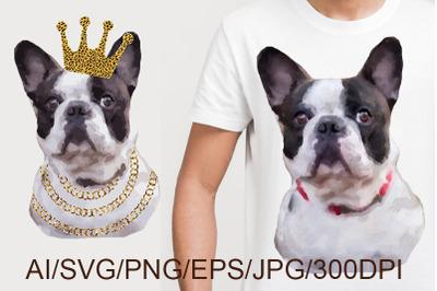 Dog SVG. French Bulldog.