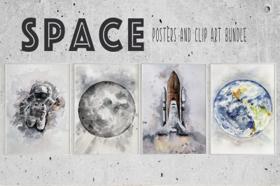 Space Bundle - Posters and Clip Arts