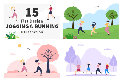 15 Jogging or Running Illustration