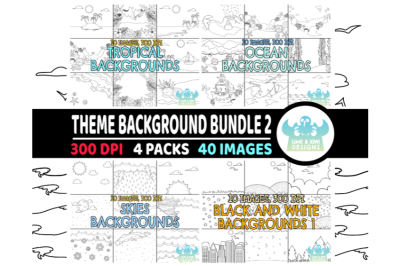 Black and White Theme Background Bundle 2
