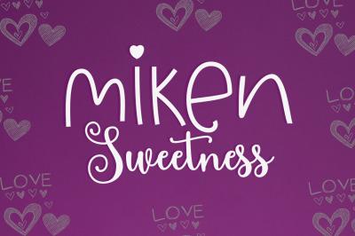 Miken Sweetness Duo font duo