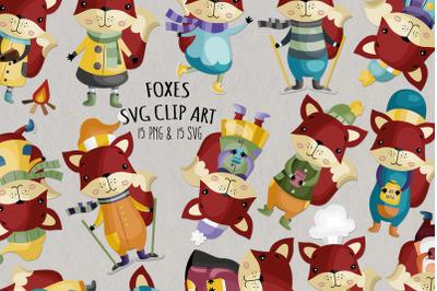 Fox SVG Clipart   Set of 15