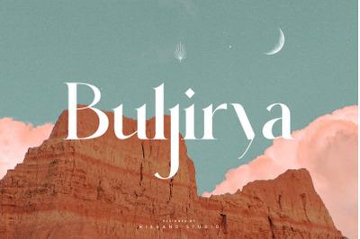 Buljirya Modern Serif Typeface