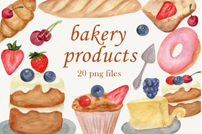 Watercolor bakery, Food clipart, Cupcake png