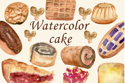 Watercolor bakery pie, Food clipart, Cupcake png