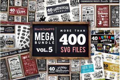 Mega Bundle 400 SVG designs vol 5