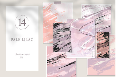Abstract digital paper pack. Blush pink backgrounds