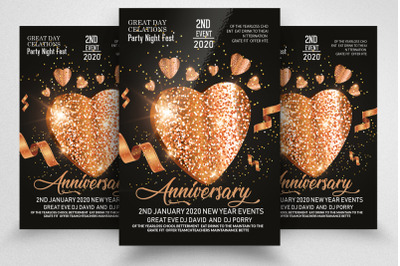 Anniversary Party Night Poster