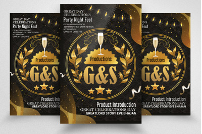 Product Introduction Night Flyer/Poster