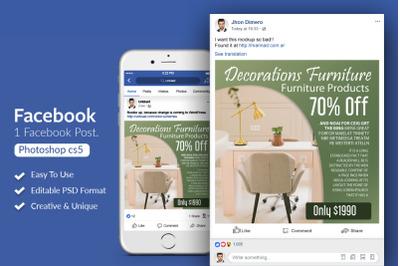 Furniture Sale Offer Facebook Post