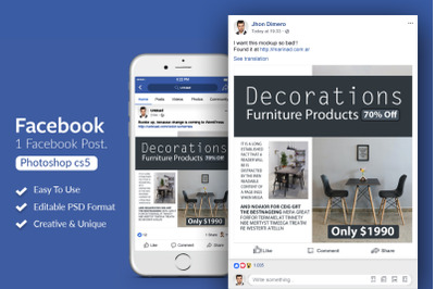 Furniture Products Facebook Post Banner