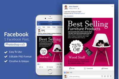 Best Selling Furniture Facebook Post Banner
