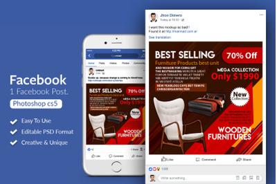 Furniture Shop Facebook Post Banner
