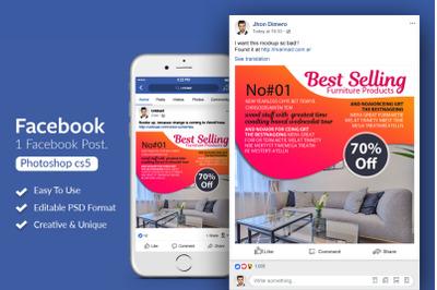 Best Selling Furniture Ads Facebook Post