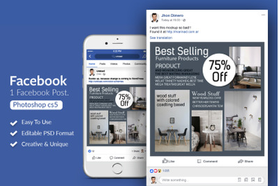Furniture Product Ads Facebook Post Banner