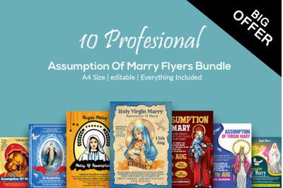 Assumption of Marry 10 Flyers Bundle