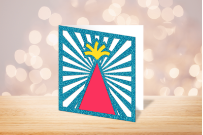 Party Hat Papercut Card | SVG | PNG | DXF | EPS
